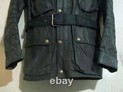 Vintage 70'S Belstaff Trialmaster Pro Waxed Motorcycle Jacket Size 38 UK Made