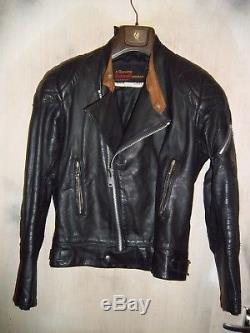 Vintage 70's Belstaff Leather Pefecto Motorcycle Jacket Size 40