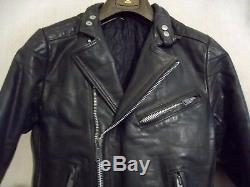 Vintage 70's Belstaff Leather Perfecto Motorcycle Jacket Size 108cm