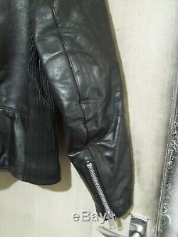 Vintage 70's Belstaff Leather Perfecto Motorcycle Jacket Size 42