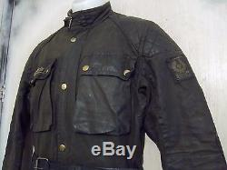 Vintage 70's Belstaff Trialmaster Pro Waxed Motorcycle Jacket Size S