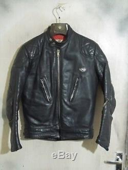 Vintage 70's Lewis Leathers Aviakit Monza Leather Motorcycle Jacket Size 38