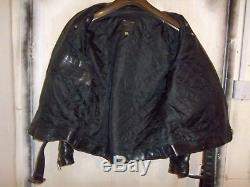 Vintage 70's Lewis Leathers Bronx Twin Track Leather Motorcycle Jacket Size 42