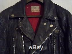 Vintage 70's Lewis Leathers Lightning Leather Motorcycle Jacket Size 42
