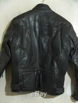 Vintage 80's Belstaff Leather Motorcycle Jacket Size 44