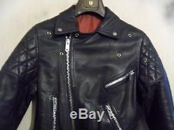 Vintage 80's Belstaff Leather Perfecto Motorcycle Jacket Size 40 Small So 36