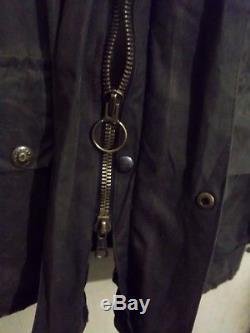 Vintage 80's Belstaff Trialmaster Waxed Motorcycle Jacket Size L Uk Made