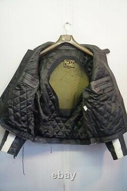 Vintage 80's Leather Alpinestars Motorcycle Jacket Size Uk XL With Red Bull Logo