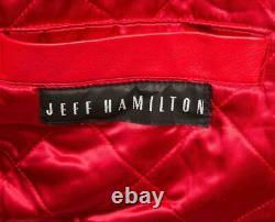 Vintage 90's JEFF HAMILTON BIKER LEATHER JACKET L LARGE COLLECTOR'S ITEM