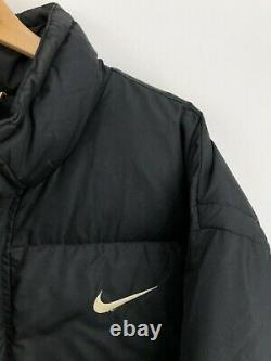 Vintage 90's Nike Puffer Jacket Black Big Swoosh Logo Mens Large