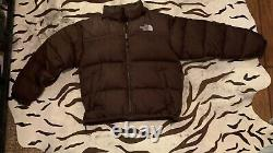 Vintage 90s North Face 700 Down Nuptse Puffer Jacket Size S SKY BLUE BLACK Puffy