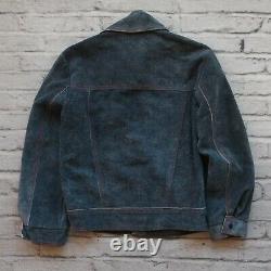Vintage AMF Harley Davidson Suede Leather Motorcycle Jacket & Pants 70s