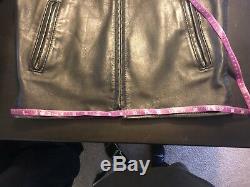 Vintage Aero Leather Co. Cafe Racer Steerhide Leather Jacket Size 38
