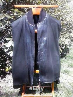 Vintage Aero Leather Jacket Horsehide FQHH Cafe Racer Motorcycle 52 L 3XL 3XLT
