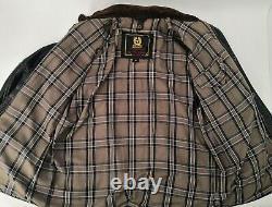 Vintage BELSTAFF PANTHER Black Leather Jacket Size M Great Patina Rare 1st Model