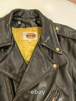 Vintage Bates Leather Motorcycle Jacket