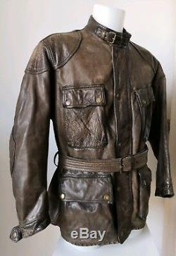 Vintage Belstaff Panther 1966 Leather Jacket, Aged Brown Size L