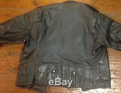 Vintage Biker Leather Harley Davidson 50's Black Jacket