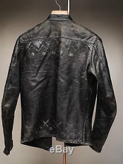 Vintage Buco J100 Jacket Steerhide Leather Biker Motorcycle Distressed (C)