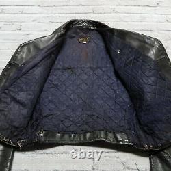 Vintage Buco J-82 Leather Motorcycle Jacket Size 42 Black