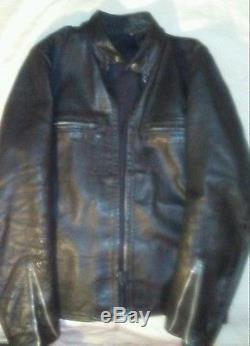 Vintage Buco cafe racer J100 Jacket Steerhide Leather Biker Motorcycle, pants