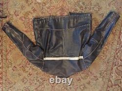 Vintage Cafe Racer Motorcycle Leather Jacket Schott Style 42
