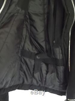 Vintage Couture Archive HELMUT LANG 90's Motorcycle Biker Jacket Punk Fur Black