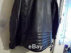 Vintage Crusader Mike Lewis Leathers Police Issue Motorcycle Jacket Size M