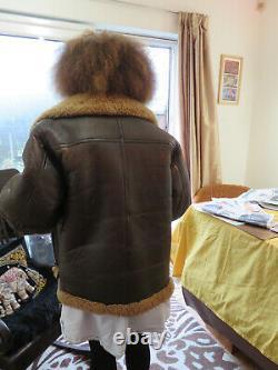 Vintage Genuine Irvin Sheepskin Flying Jacket Wonderful Patina 38in
