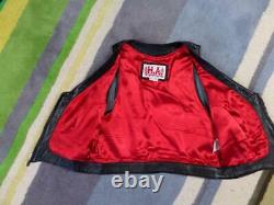 Vintage HELLS ANGELS Leather HA vest XL womens girlfriend MOTORCYCLE harley