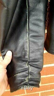 Vintage Harley Davidson Mens Black Leather Jacket Coat Medium M- Made In USA