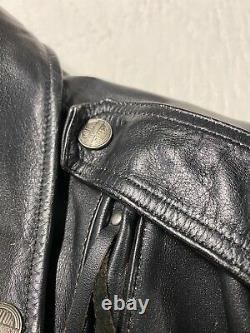 Vintage Harley Davidson Shovelhead Style Leather Jacket Size Mens Small