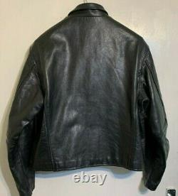 Vintage Heavy Vanson Leathers USA Leather Jacket Size 50 / Uk M Made In The USA
