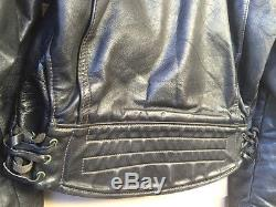 Vintage Langlitz Cascade Black Leather Motorcycle Jacket M Nice