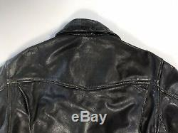 Vintage Langlitz Columbia Black Leather Motorcycle Jacket 80's'82 Men's Size 40