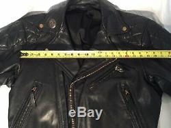 Vintage Langlitz Leather Motorcycle Jacket Black, Preowned, Heavy