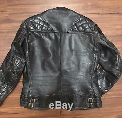 Vintage Lewis Leathers Aviakit Leather Jacket Monza Motorcycle Cafe Racer Black