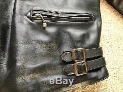 Vintage Lewis Leathers Aviakit Leather Motorcycle Jacket Size 40