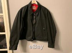Vintage Lewis Leathers Aviakit Waxed Cotton Motorcycle Jacket Size 52 XL Uk Made