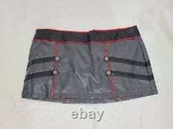 Vintage Lip Service Vinyl Jacket and Skirt Set, Gray & Black XL and XXL