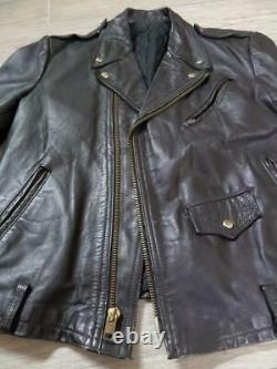 Vintage MOTORCYCLE schott perfecto LEATHER jacket 40-42 medium black