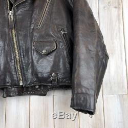 Vintage Men's Avirex Brown Biker Motorcycle Leather Jacket Perfecto M / L