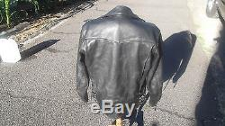 Vintage Men's Columbia Langlitz Leather Motorcycle Biker Jacket mens 44 L