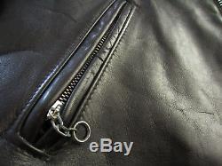 Vintage Men's Schott Perfecto Leather Motorcycle Jacket Size 44