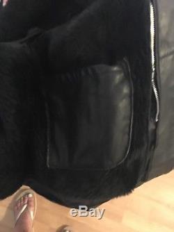 Vintage Mens Schott Nyc 141 Cafe Racer Black Leather Motorcycle Jacket Size 38