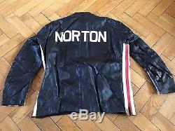 Vintage Motorcycle Norton Leather Racing Jacket Luda Same Era Lewis Leathers