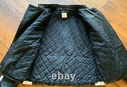 Vintage Polo Ralph Lauren Leather Moto Jacket M Racing Ski Alpine 1992 93 SAMPLE