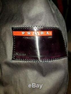 Vintage Prada Sport Windbreaker Moto Gore-tex Jacket Men's L Black