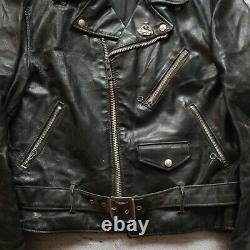 Vintage Schott 418 Leather Perfecto Motorcycle Jacket Size 36 Made in USA Biker