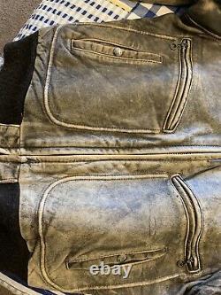 Vintage Schott Leather Bomber Jacket 40 USA Made Motorcycle